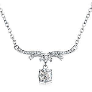CZ Crystal Silver Adjustable Necklace NEW
